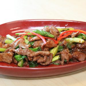 Kosher Scallion Beef Sir Fry